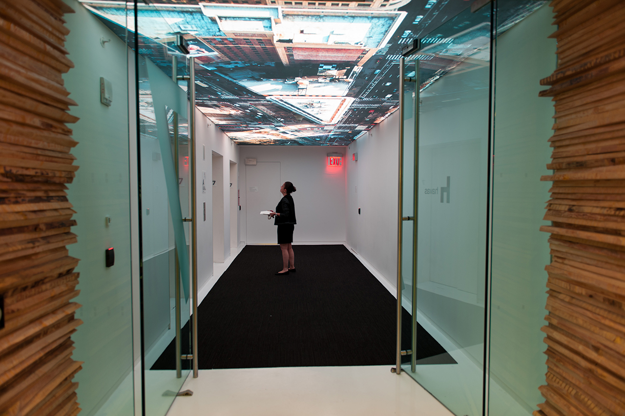 Functional-Art-_Havas_NYC_1st-floor-elevator-lobby-backlit-ceiling
