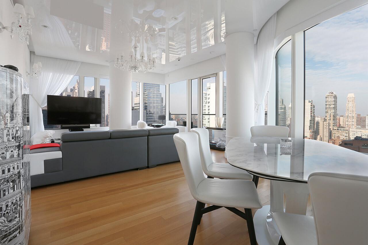 high-gloss-white-PVC-stretch-ceiling_Lexington_NYC